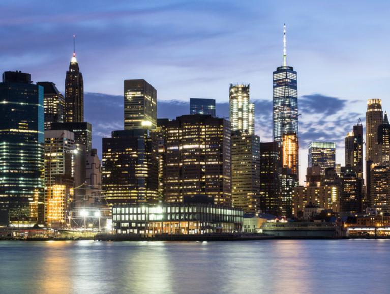 America Skyline Brooklyn waterfront Saint Gobain Building Glass